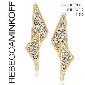 💕 NWT REBECCA MINKOFF Crystal Triangle Earrings